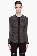 Rag & Bone Black and White Patterned Carnaby Blouse - Lyst