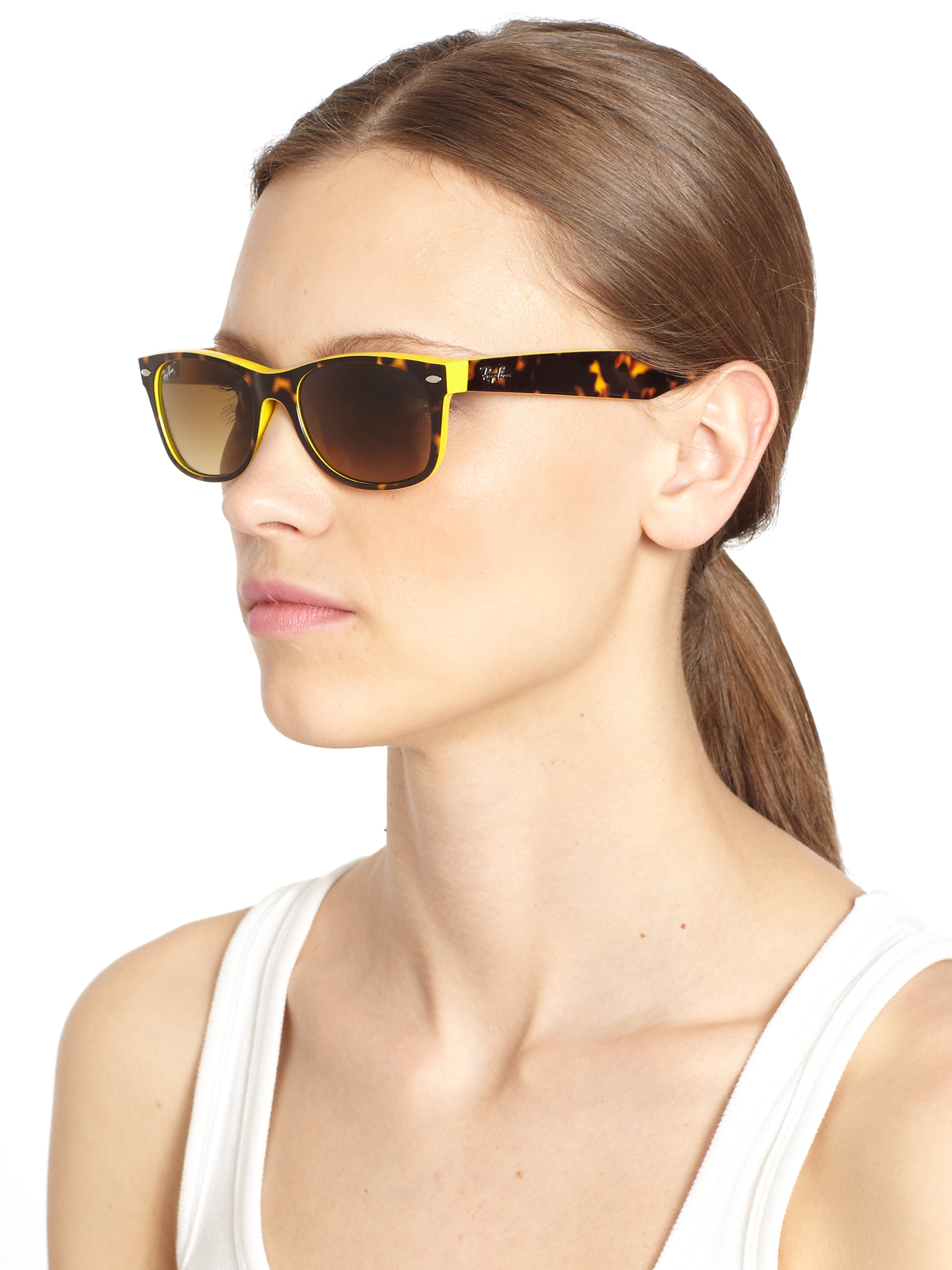 ray ban wayfarer womens  Ray-ban New Wayfarer Sunglasses in Yellow