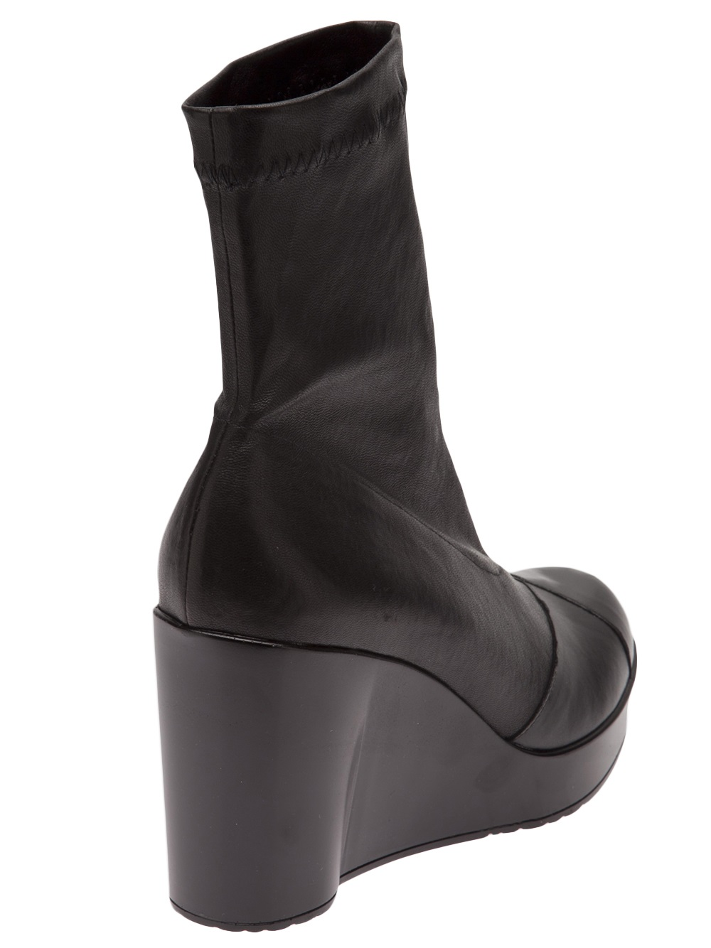 8ba34cd615c1 Lyst - Robert Clergerie Cendre Wedge Boot in Black