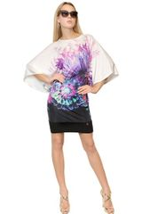 Roberto Cavalli Printed Viscose Jersey Dress - Lyst