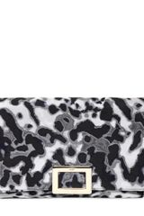 Roger Vivier Envelope Leopard Print Silk Shoulder Bag - Lyst