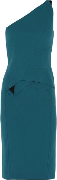 Roland Mouret Honey Wool Crepe Dress - Lyst