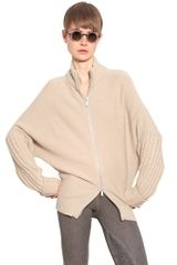 Silent By Damir Doma Zip Wool Blend Knit Cardigan - Lyst