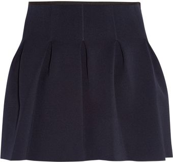 T By Alexander Wang Pleated Neoprene Mini Skirt - Lyst