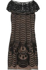 Temperley London Wave Embroidered Tulle Shift Dress - Lyst
