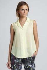 Theyskens' Theory Badge Sleeveless Sheer Blouse - Lyst