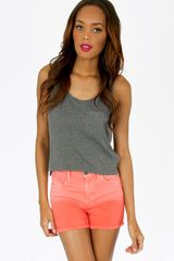 Tobi Dipped Denim Shorts - Lyst