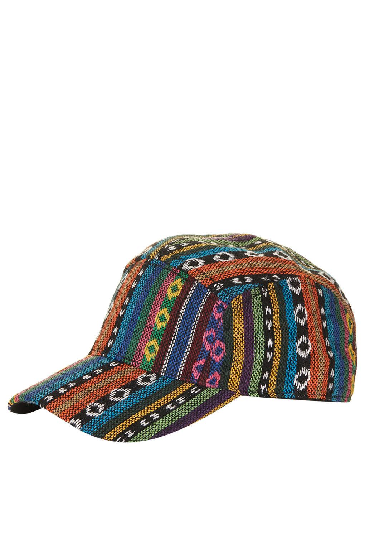 Lyst - TOPSHOP Aztec Fabric Baseball Cap 772c5d314c8