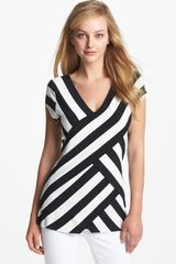 Vince Camuto Tiered Stripe Top - Lyst