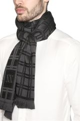 Z Zegna Wool Checked Scarf - Lyst