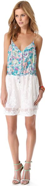 Zimmermann Celestial Embroidered Romper - Lyst