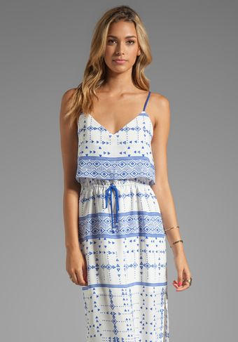 Dolce Vita Dv By Robyn Mojave Printed Maxi Dress in White - Lyst