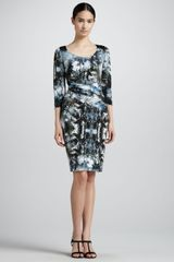 Escada Biasseamed Printed Jersey Dress - Lyst
