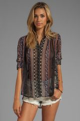Free People Moonlight Mile Woven Top in Black - Lyst