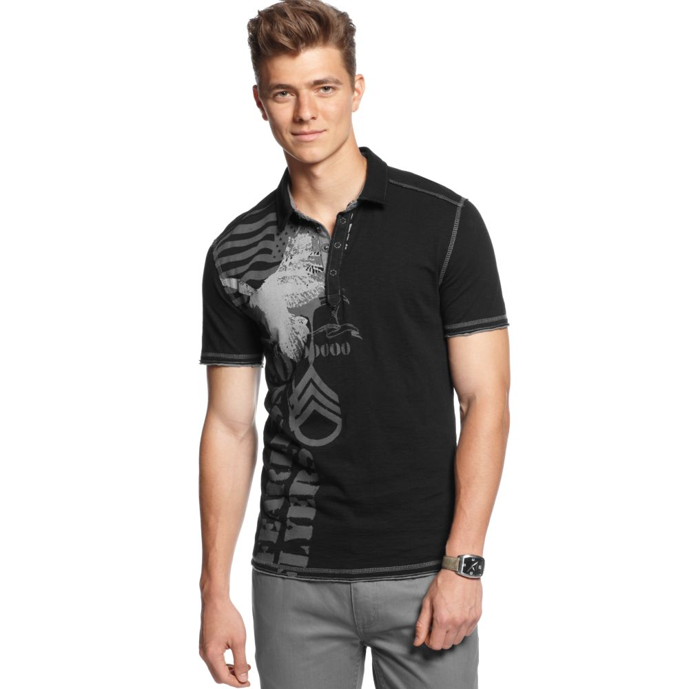 Inc international concepts long sleeve sleepless night for Mens shirts with snaps instead of buttons