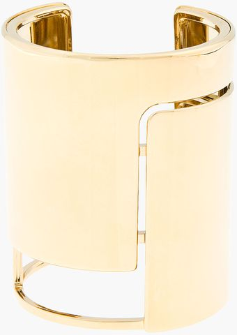 Lanvin Gold Geometric Cut out Cuff - Lyst