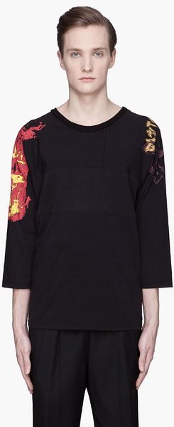 Maison Martin Margiela Black Faded Metal Patchwork T shirt - Lyst