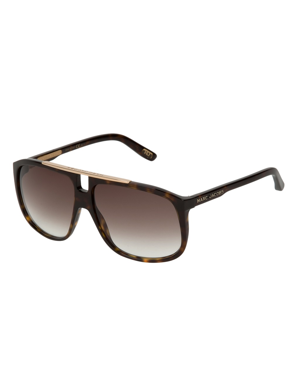 Marc Jacobs Mens Sunglasses  marc jacobs flat top tortoise s sunglasses in brown for men lyst