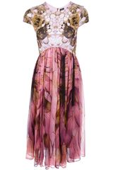 McQ by Alexander McQueen Printed High-waisted Dress - Lyst