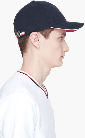 Moncler Navy Dual Color Baseball Cap - Lyst