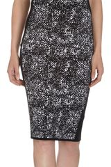 Narciso Rodriguez Abstract Tweed Knit Sleeveless Dress - Lyst