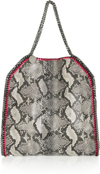 stella mccartney falabella faux python shoulder bag in pink lyst. Black Bedroom Furniture Sets. Home Design Ideas