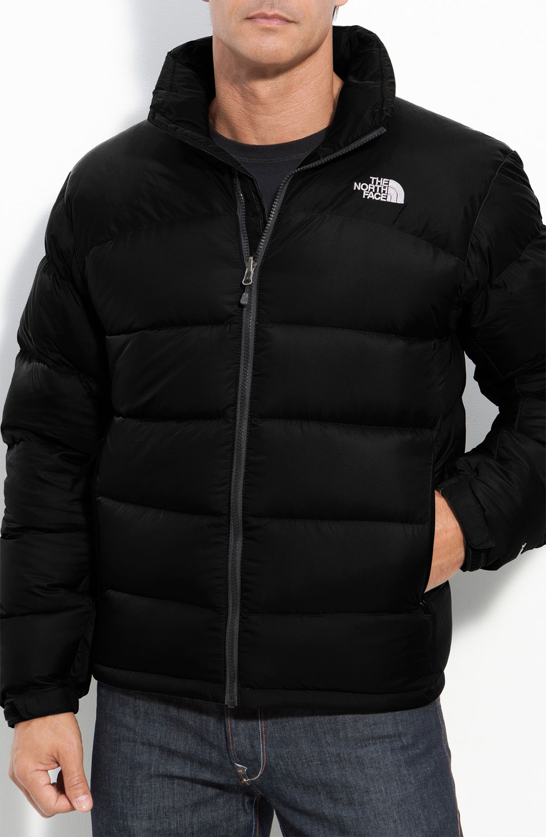 the north face nuptse 2 down jacket in black for men lyst. Black Bedroom Furniture Sets. Home Design Ideas