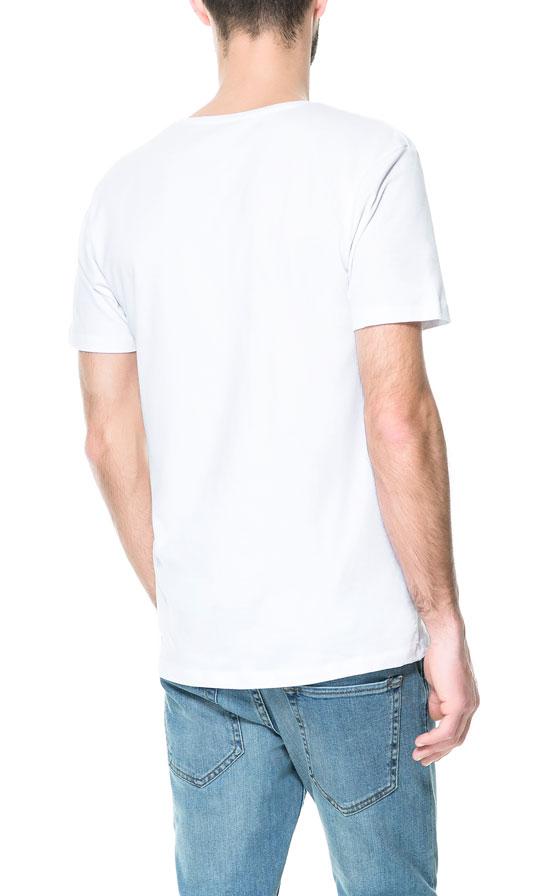 Zara super slim fit t shirt in white for men lyst for Super slim dress shirts