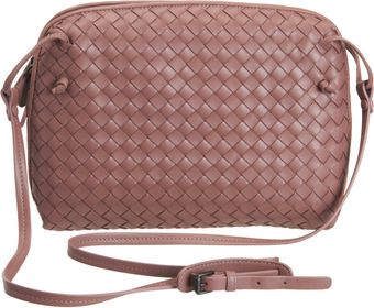 Bottega Veneta Small Intrecciato Square Messenger Bag - Lyst