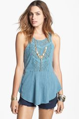 Free People Day Tripper Peplum Tank - Lyst