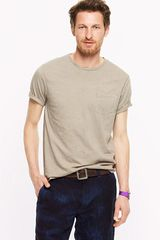 J.Crew Iron and Chestnut Naturaldye Organic Pocket Tee - Lyst