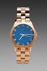 Marc By Marc Jacobs Henry Watch in Metallic Gold - Lyst