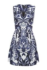McQ by Alexander McQueen Kaleidoscope Full Skirt Dress - Lyst