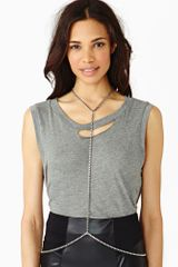 Nasty Gal Circuit Body Chain Silver - Lyst