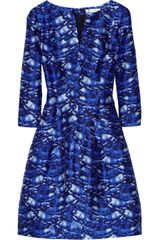 Oscar de la Renta Day Printed Silk and Cotton blend Dress - Lyst