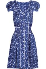Rosamosario Polka Dots Loca Silk Satin Twill Dress - Lyst