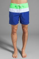Scotch & Soda Colorblock Swim Short in Blue - Lyst