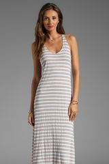 Splendid Mediterranean Stripe Maxi Dress in Taupe - Lyst