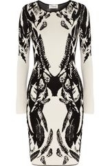 Temperley London Stretchknit Intarsia Dress - Lyst