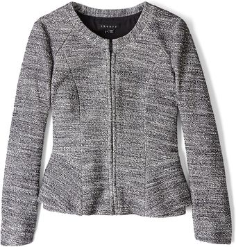 Theory Pursue Jondi Tweed Peplum Jacket - Lyst