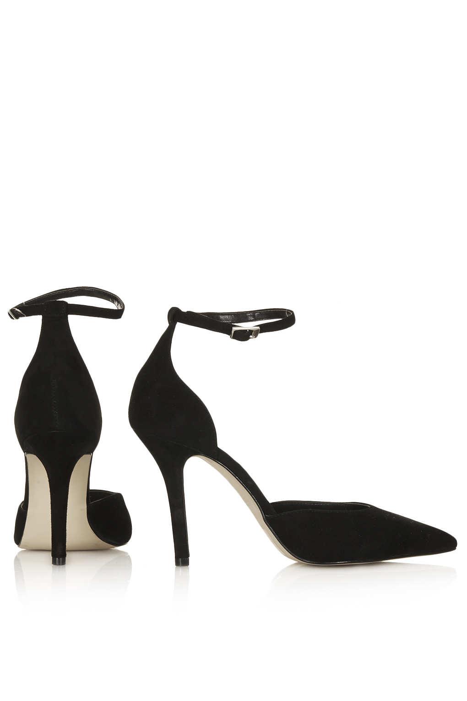 Black Heels Strap Around Ankle