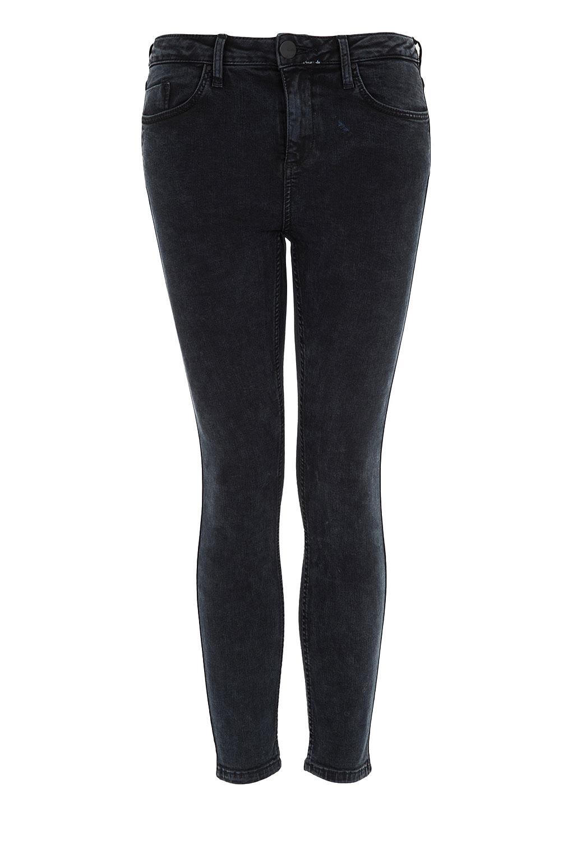 topshop petite moto acid jamie jeans in black lyst. Black Bedroom Furniture Sets. Home Design Ideas