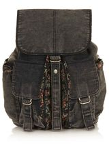 Topshop Tapestry Trim Backpack - Lyst