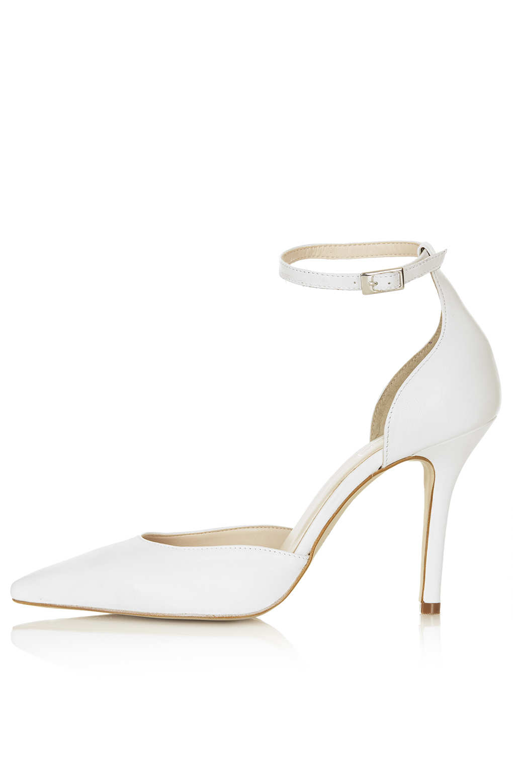 Lyst - Topshop Gizmo Ankle Strap Court Shoes in White