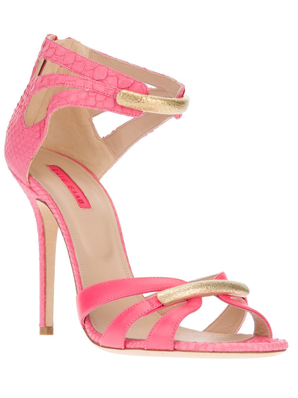 Lyst - Elie Saab Strappy Sandal In Pink-8256