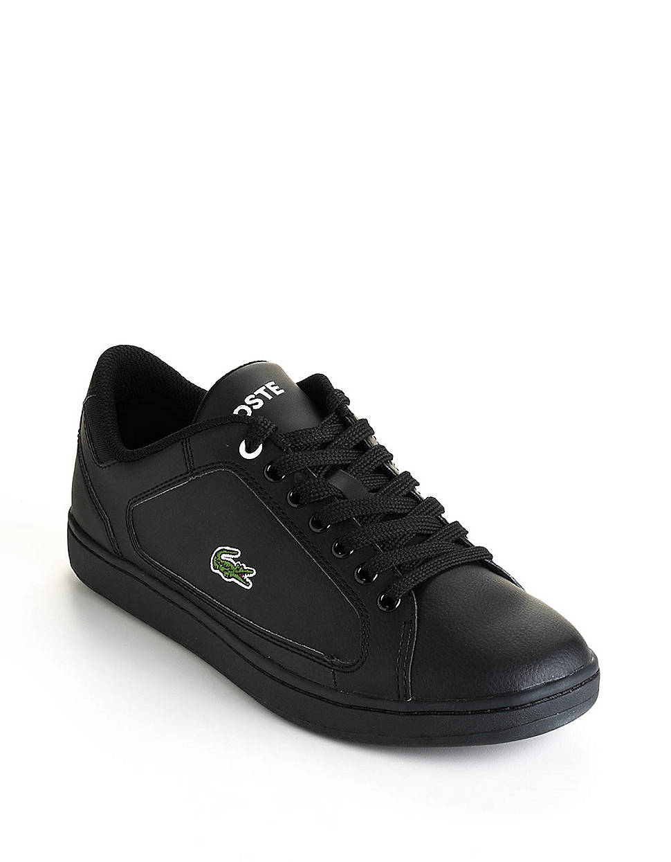 lacoste nistos tennis shoes in black for lyst