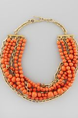 Paige Novick Julie 7strand Howlite Beaded Necklace Coral - Lyst
