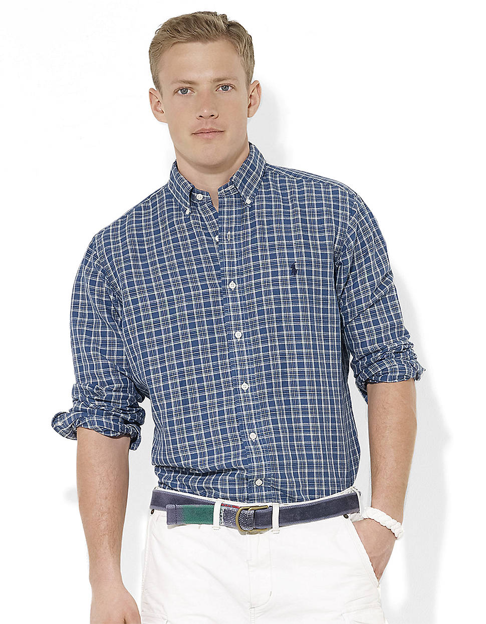 Polo Ralph Lauren Classic Fit Checked Linen Cotton Dress