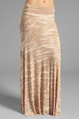 Rachel Pally Rib Long Full Skirt in Tan - Lyst