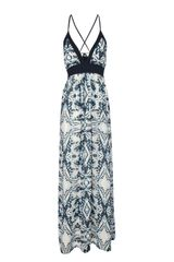 Jane Norman Blue Print Maxi Dress - Lyst
